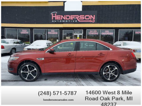 2014 Ford Taurus for sale at Henderson Automotive, LLC in Oak Park MI