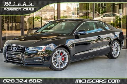 2013 Audi A5 for sale at Mich's Foreign Cars in Hickory NC
