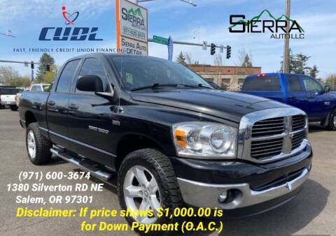 2007 Dodge Ram Pickup 1500 for sale at SIERRA AUTO LLC in Salem OR