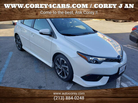 2017 Toyota Corolla iM for sale at WWW.COREY4CARS.COM / COREY J AN in Los Angeles CA