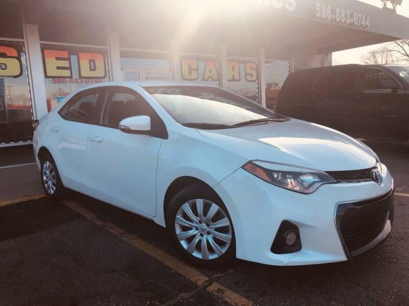 2016 Toyota Corolla for sale at Daniel Auto Sales inc in Clinton Township MI