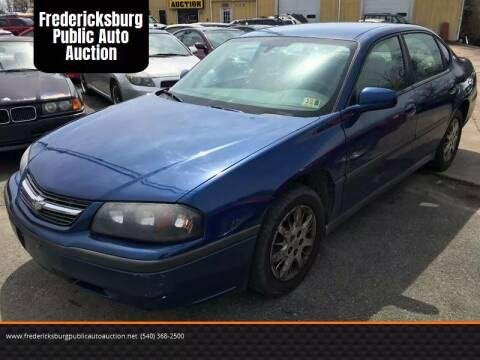 2005 Chevrolet Impala for sale at FPAA in Fredericksburg VA