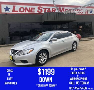 2017 Nissan Altima for sale at LONE STAR MOTORS II in Fort Worth TX