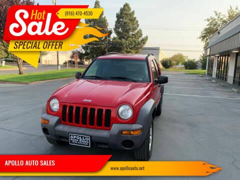 2004 Jeep Liberty for sale at APOLLO AUTO SALES in Sacramento CA