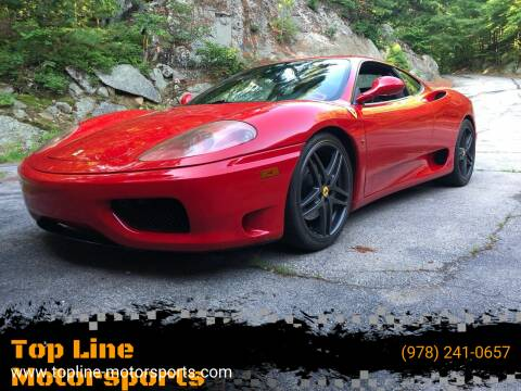 2002 Ferrari 360 Modena for sale at Top Line Motorsports in Derry NH
