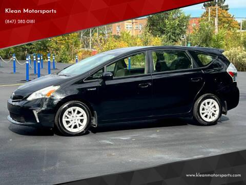 2013 Toyota Prius v for sale at Klean Motorsports in Skokie IL