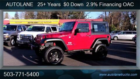 2008 Jeep Wrangler for sale at Auto Lane in Portland OR