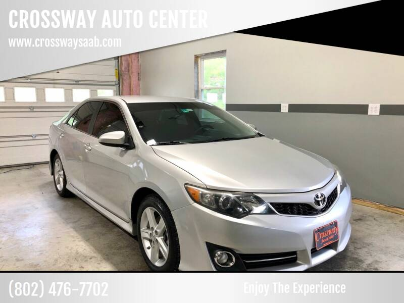 2014 Toyota Camry for sale at CROSSWAY AUTO CENTER in East Barre VT