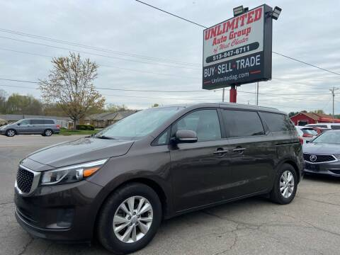 2016 Kia Sedona for sale at Unlimited Auto Group in West Chester OH