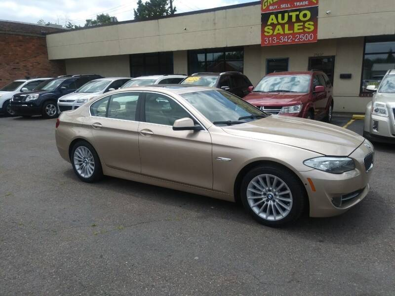 2013 BMW 5 Series for sale at GREAT DEAL AUTO SALES in Center Line MI