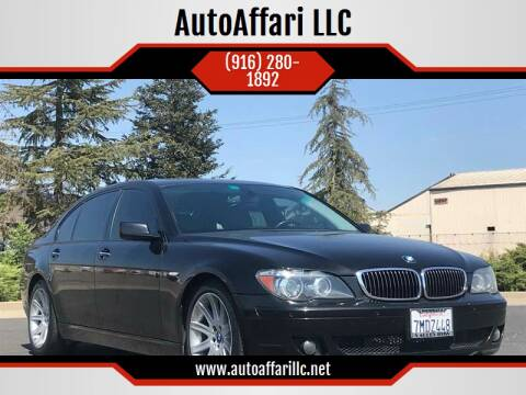 2006 BMW 7 Series for sale at AutoAffari LLC in Sacramento CA