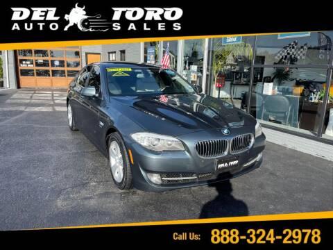 2012 BMW 5 Series for sale at DEL TORO AUTO SALES in Auburn WA
