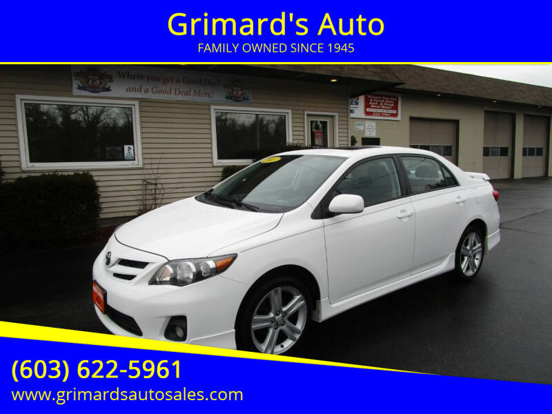 2013 Toyota Corolla for sale at Grimard's Auto in Hooksett, NH