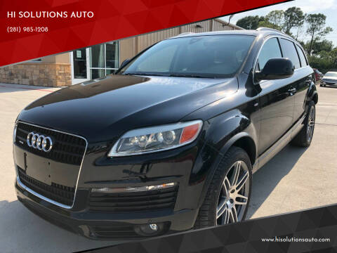 2008 Audi Q7 for sale at HI SOLUTIONS AUTO in Houston TX