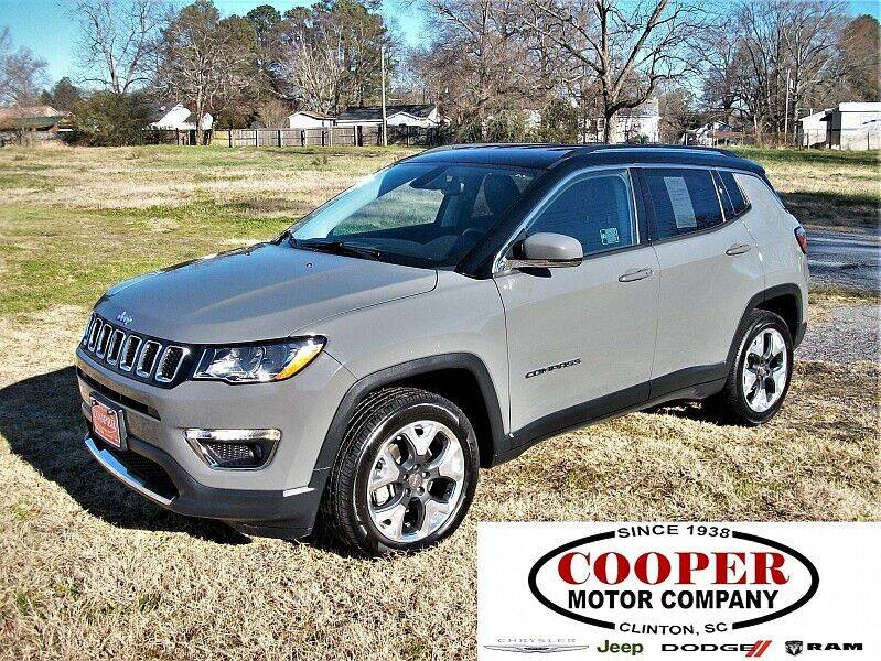 2019 Jeep Compass for sale at Cooper Motor Company in Clinton SC