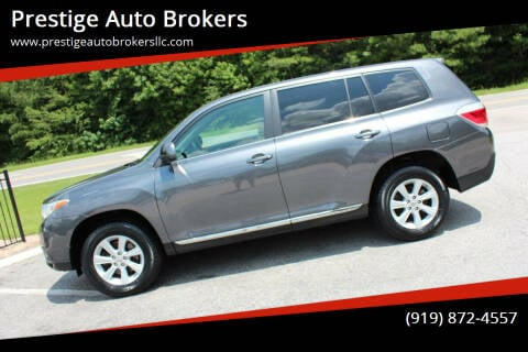 2011 Toyota Highlander for sale at Prestige Auto Brokers in Raleigh NC