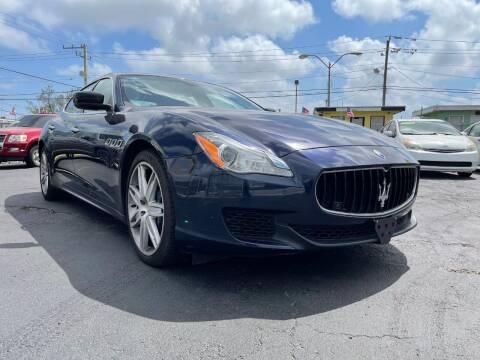 2015 Maserati Quattroporte for sale at MIAMI AUTO LIQUIDATORS in Miami FL