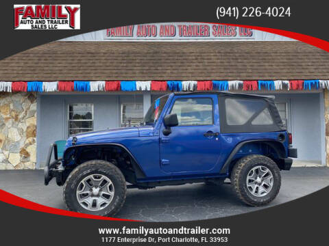 2009 Jeep Wrangler for sale at Family Auto and Trailer Sales LLC in Port Charlotte FL