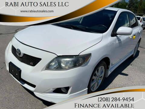 2010 Toyota Corolla for sale at RABI AUTO SALES LLC in Garden City ID