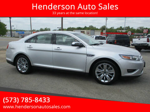 2012 Ford Taurus for sale at Henderson Auto Sales in Poplar Bluff MO