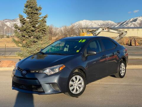 2015 Toyota Corolla for sale at Evolution Auto Sales LLC in Springville UT