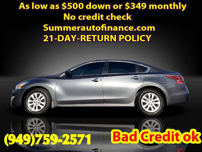 2013 Nissan Altima for sale at SUMMER AUTO FINANCE in Costa Mesa CA
