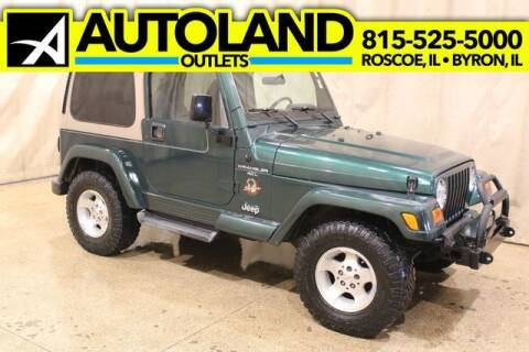 2001 Jeep Wrangler for sale at AutoLand Outlets Inc in Roscoe IL