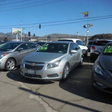 2012 Chevrolet Cruze for sale at Luxor Motors Inc in Pacoima CA
