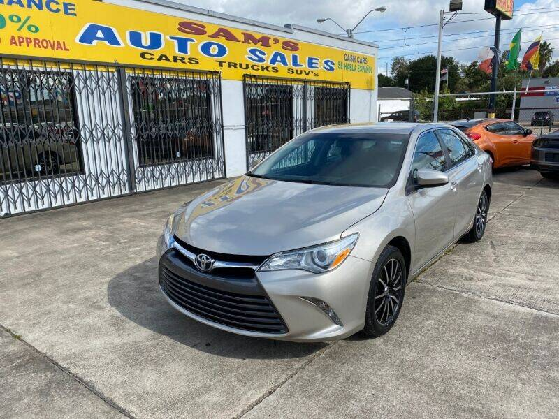 2016 Toyota Camry for sale at Sam's Auto Sales in Houston TX