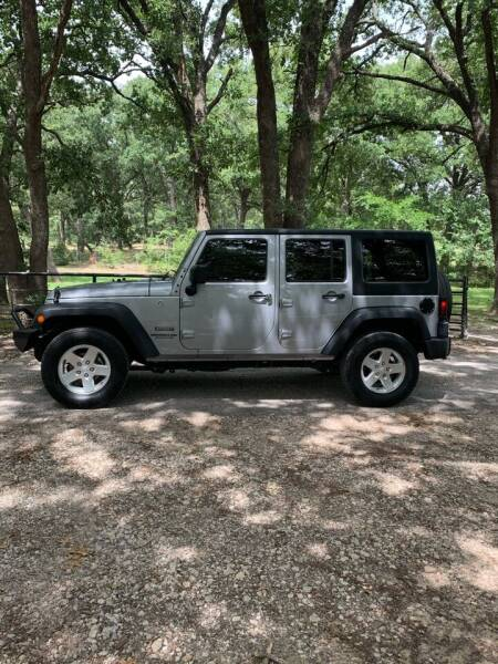 2016 Jeep Wrangler Unlimited for sale at BARROW MOTORS in Caddo Mills TX