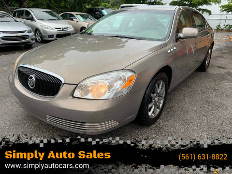 2006 Buick Lucerne for sale at Simply Auto Sales in Palm Beach Gardens FL