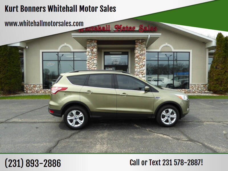 2013 Ford Escape for sale at Kurt Bonners Whitehall Motor Sales in Whitehall MI