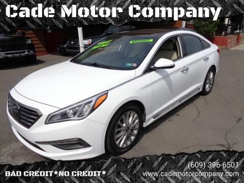 2015 Hyundai Sonata for sale at Cade Motor Company in Lawrenceville NJ