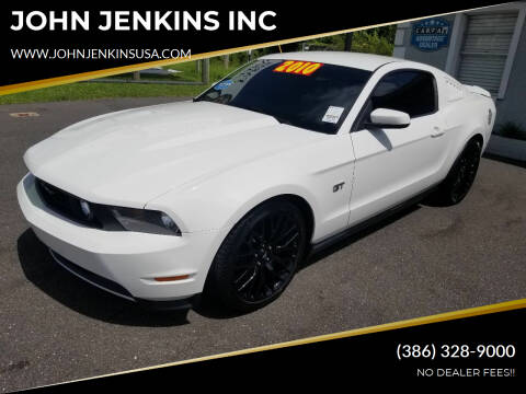 2010 Ford Mustang for sale at JOHN JENKINS INC in Palatka FL