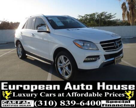 2014 Mercedes-Benz M-Class for sale at European Auto House in Los Angeles CA