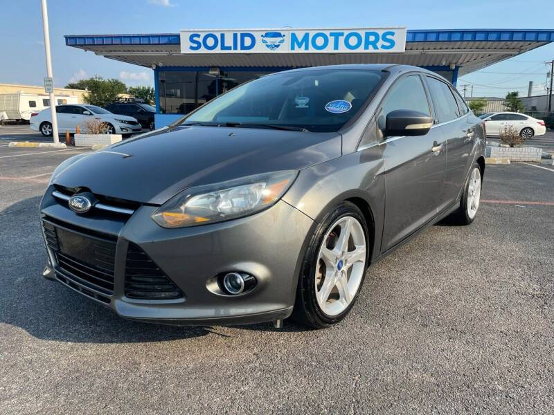 2012 Ford Focus for sale at SOLID MOTORS LLC in Garland TX