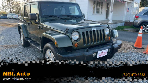 2007 Jeep Wrangler Unlimited for sale at MBL Auto Woodford in Woodford VA