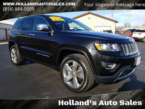 2016 Jeep Grand Cherokee for sale at Holland's Auto Sales in Harrisonville MO