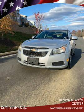 2012 Chevrolet Cruze for sale at REGIONAL AUTO CENTER in Fredericksburg VA