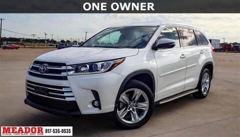 2019 Toyota Highlander for sale at Meador Dodge Chrysler Jeep RAM in Fort Worth TX