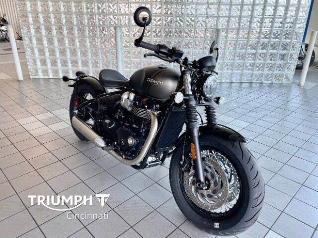 2022 Triumph Bonneville Bobber Black for sale at TRIUMPH CINCINNATI in Cincinnati OH