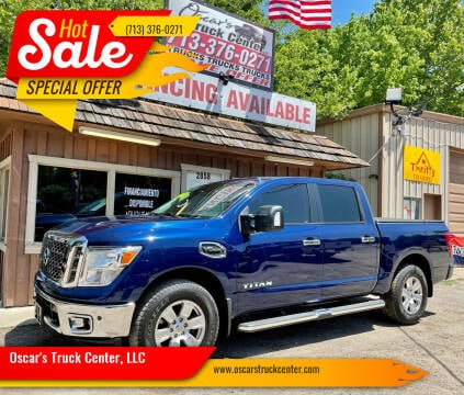 2017 Nissan Titan for sale at Oscar's Truck Center, LLC in Houston TX