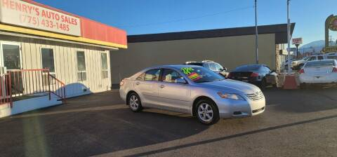 2009 Toyota Camry for sale at Henry's Autosales, LLC in Reno NV