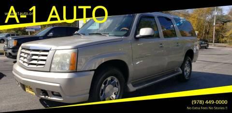 2004 Cadillac Escalade ESV for sale at A-1 Auto in Pepperell MA