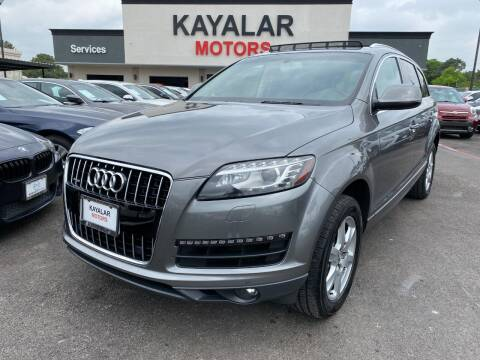 2012 Audi Q7 for sale at KAYALAR MOTORS in Houston TX