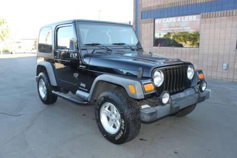 2004 Jeep Wrangler for sale at NV Cars 4 Less, Inc. in Las Vegas NV