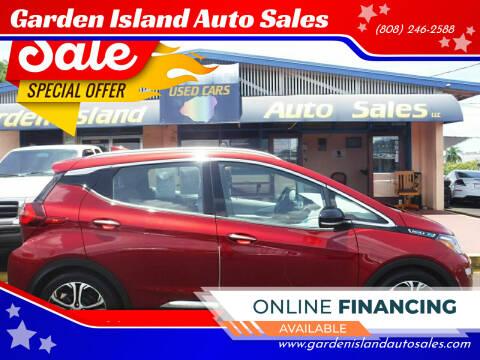2017 Chevrolet Bolt EV for sale at Garden Island Auto Sales in Lihue HI