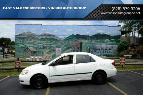 2007 Toyota Corolla for sale at EAST VALDESE MOTORS / VINSON AUTO GROUP in Valdese NC