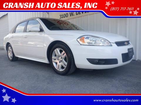 2011 Chevrolet Impala for sale at CRANSH AUTO SALES, INC in Arlington TX
