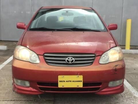 2004 Toyota Corolla for sale at Delta Auto Alliance in Houston TX